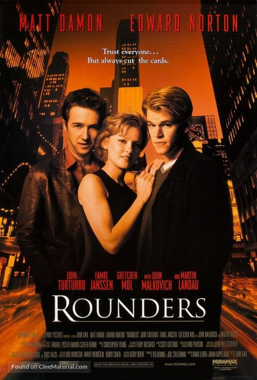 Rounders Movie Poster Filmes Hd Posters De Filmes Assistir