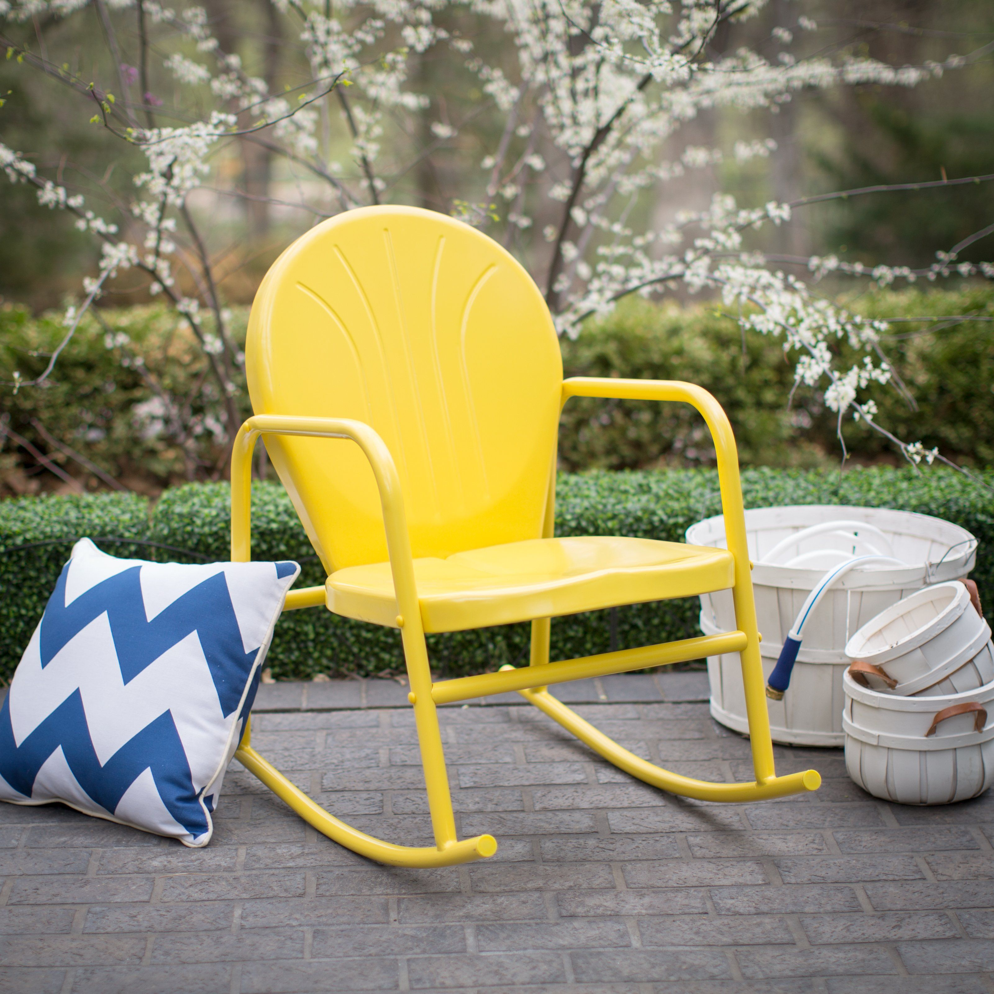 High Quality Coral Coast Vintage Retro Steel Single Rocker   Outdoor Rocking Chairs At  Hayneedle Idea