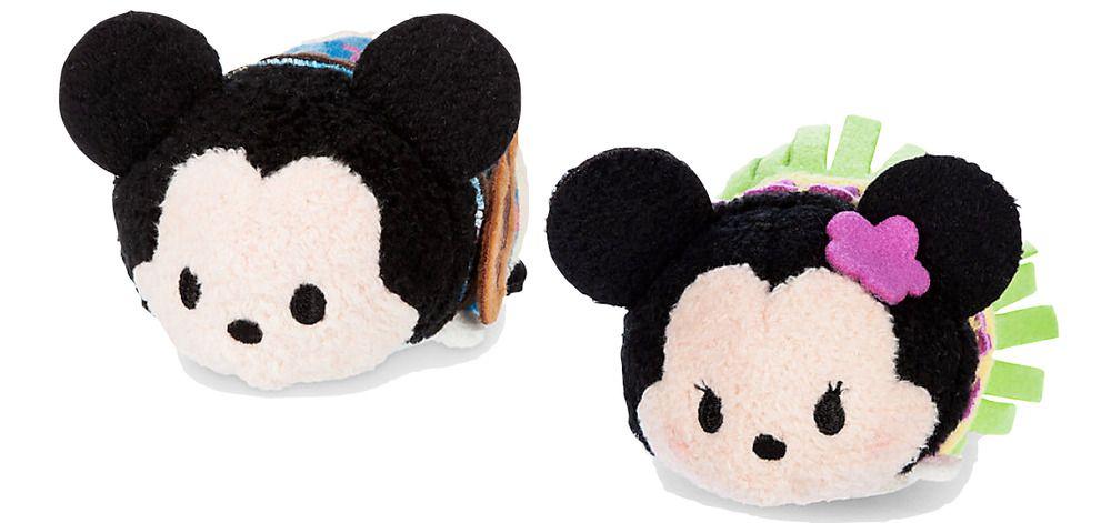 Disney Mickey And Minnie Mouse Tsum Tsum Hawaiian Holiday Set