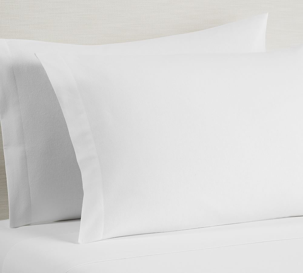 Luxury Portugal Flannel 4-Piece Queen Sheet Set Made of 100/% USA Cotton, Ivory