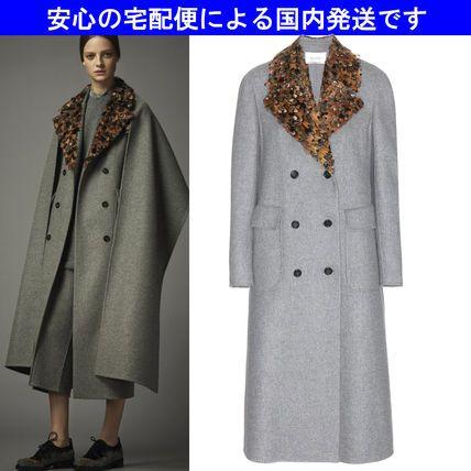 14秋☆孔雀カラー ウールアンゴラ ロングコート☆バレンチノ