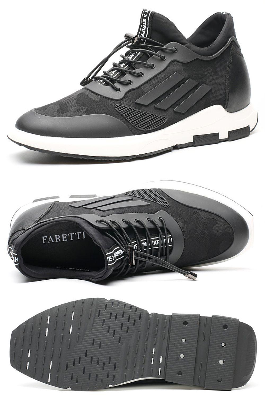 Buty Podwyzszajace Meskie Sportowe Codzienne Modne Obuwie Dla Mezczyzn 7cm Adidas Sneakers Sneakers Black Sneaker