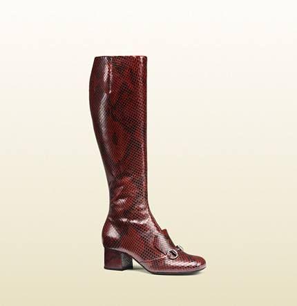 Kozaki Gucci Boots Boots Knee Boots Gucci Leather