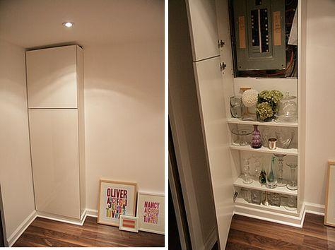 fabriquer le cache compteur comment cacher un compteur lectrique maison pinterest. Black Bedroom Furniture Sets. Home Design Ideas