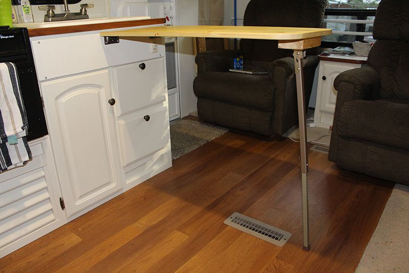 How To Add 36 Inches To Your Too Small Rv Kitchen Countertop Rv