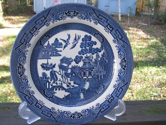 Churchill Blue And White Plate, Made In Staffordshire England, Asian ...