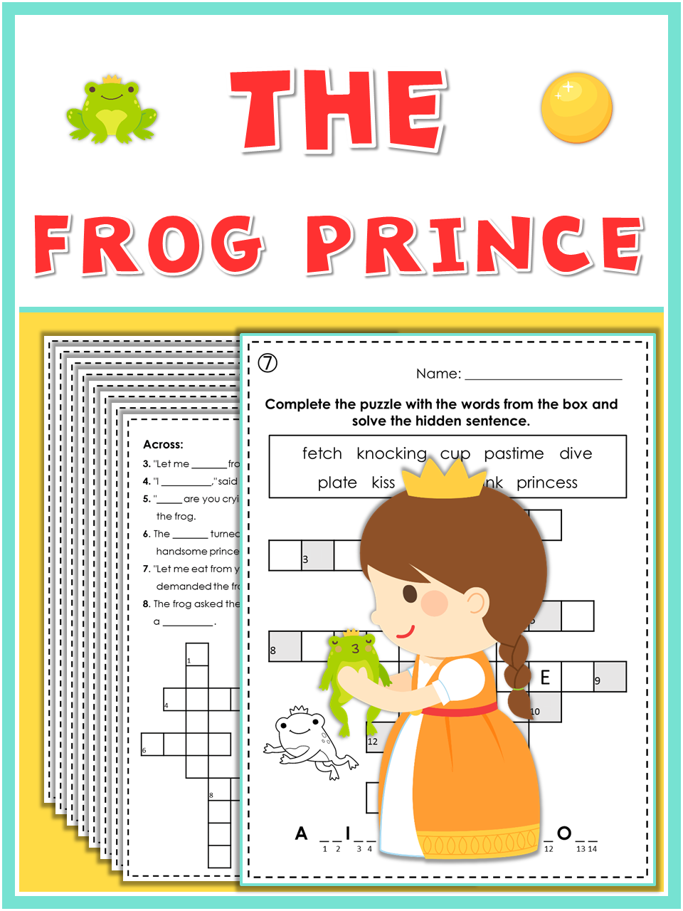 Free! The Frog Prince puzzles. | My teaching resources | Pinterest ...