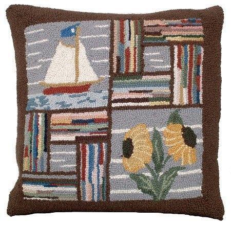 Booth Bay Sailboat Decorative Pillow