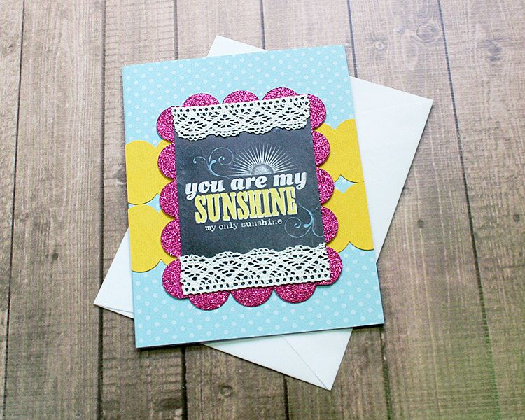 """Dots, Scallops and Sunshine! Friendship, Thinking of You, Love, Anniversary, Son, Daughter, Just Because Note Card - 4.25"""" by 5.5 inches by PaperDahlsLLC on Etsy"""
