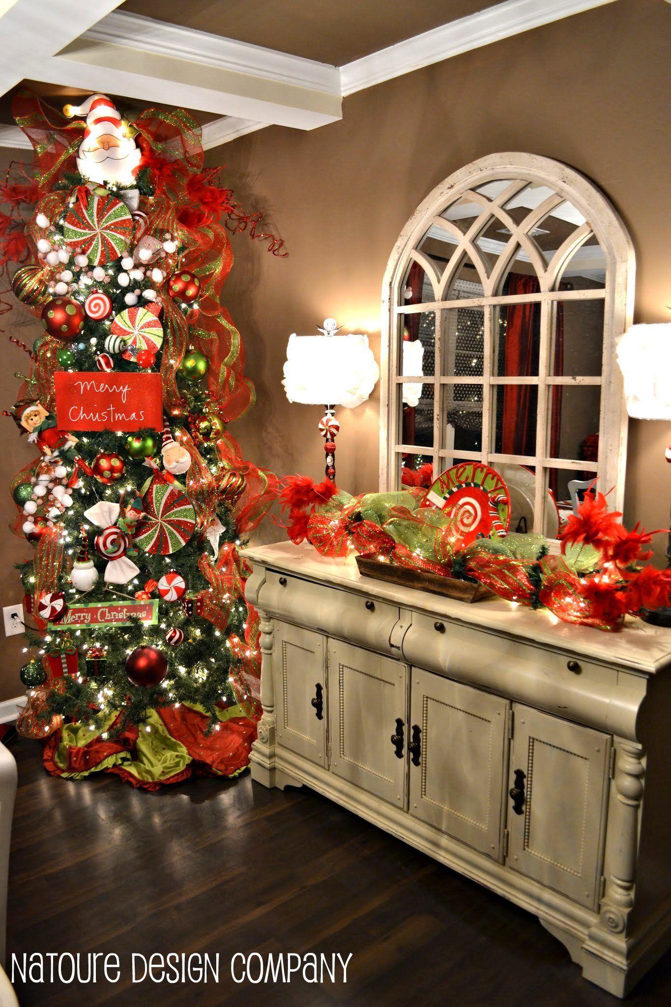Christmas Dining Room Christmas Decor Skinny Christmas