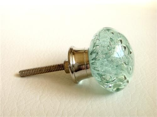 Mint Green Glass Bubble Cabinet Knobs Pulls Set Of 4 Decorative Hardware  7.jpeg