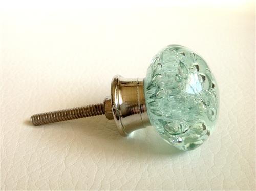 Mint Green Sea Glass Bubble Cabinet Knobs Dresser Drawer Pulls