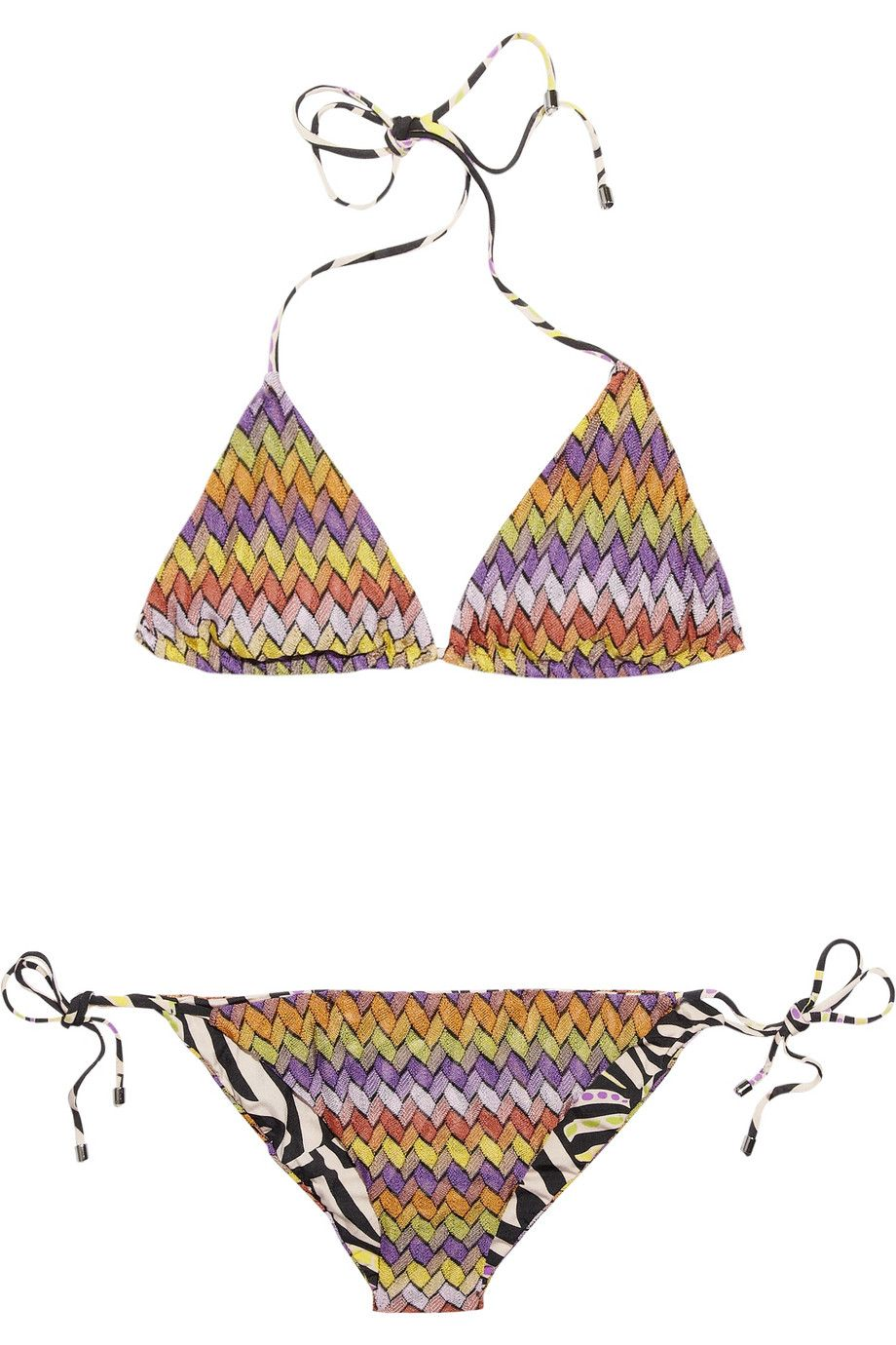 5111fdb3240fe Missoni | Basket reversible triangle bikini | NET-A-PORTER.COM ...