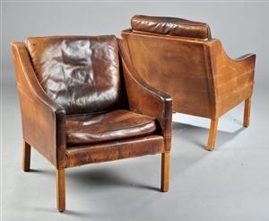 Børge Mogensen 1914 1972. Par hvilestole model 2207 (2