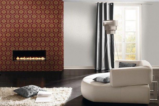 Tapete rot gold Barock Trianon Rasch 505368 Barock Tapeten - tapete modern