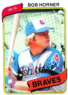 Topps Diamond Giveaway Bob Horner 1980 1980 Topps