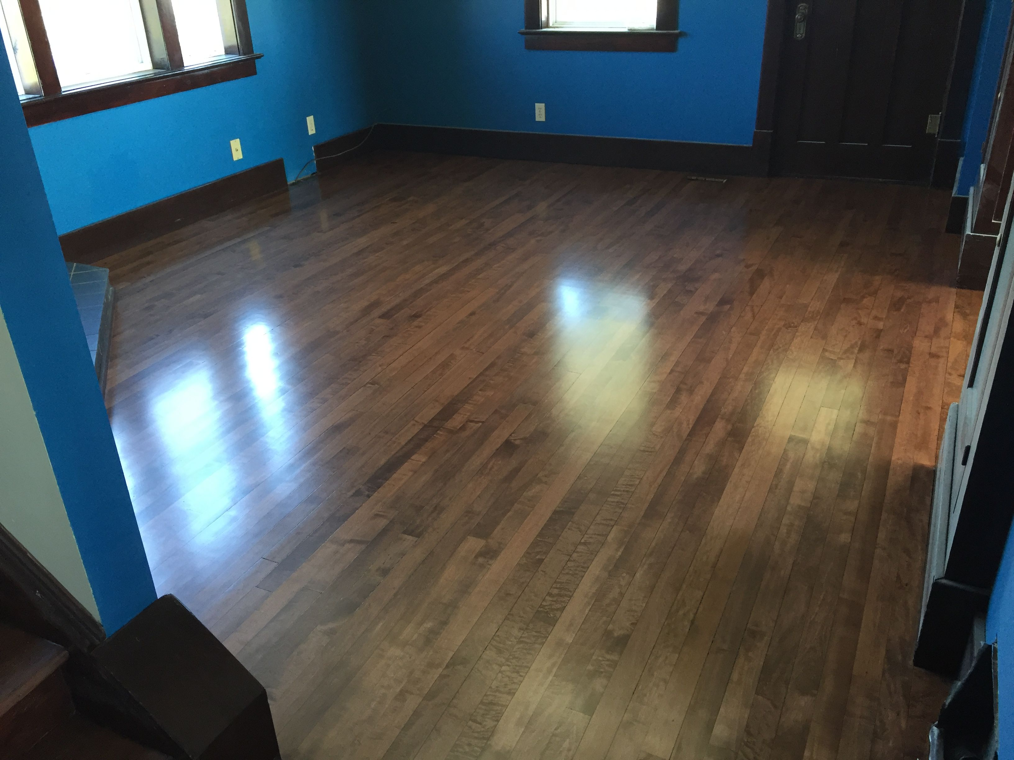 Maple Hardwood Bona Stain Mix Medium Brown And Mahogany Maple Hardwood Hardwood Hardwood Floors