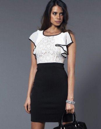 Lipsy Lace Frill Shift Dress