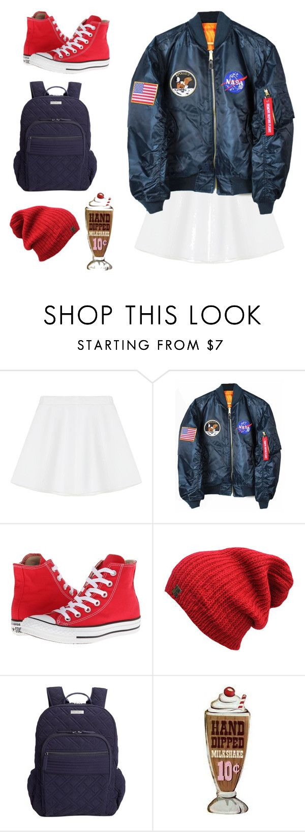 """""""spacey"""" by emilykatephilip ❤ liked on Polyvore featuring RED Valentino, Converse and Vera Bradley"""