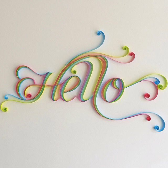 Quilled Hello Would Look Great On The Front Door Quilling Paper Craft Quilling Designs Paper Quilling Designs