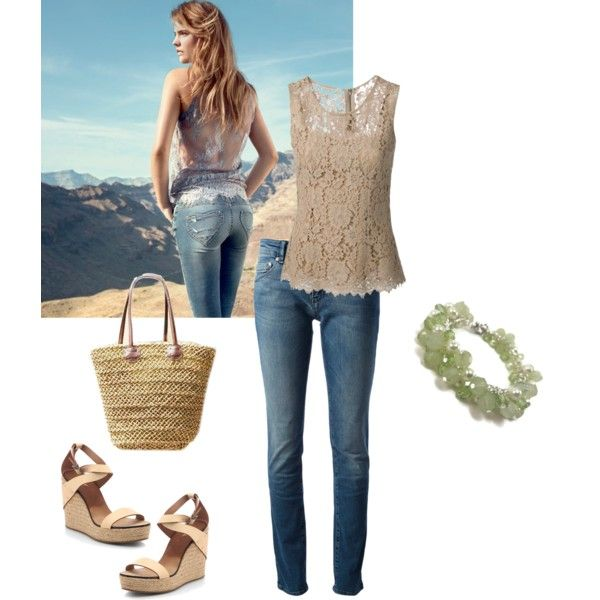 "The Valet Girl featured in ""spring jean"" by mistygboy on Polyvore"