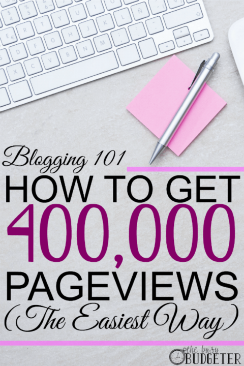 How to get 400,000 pageviews the easiest way...problogging course