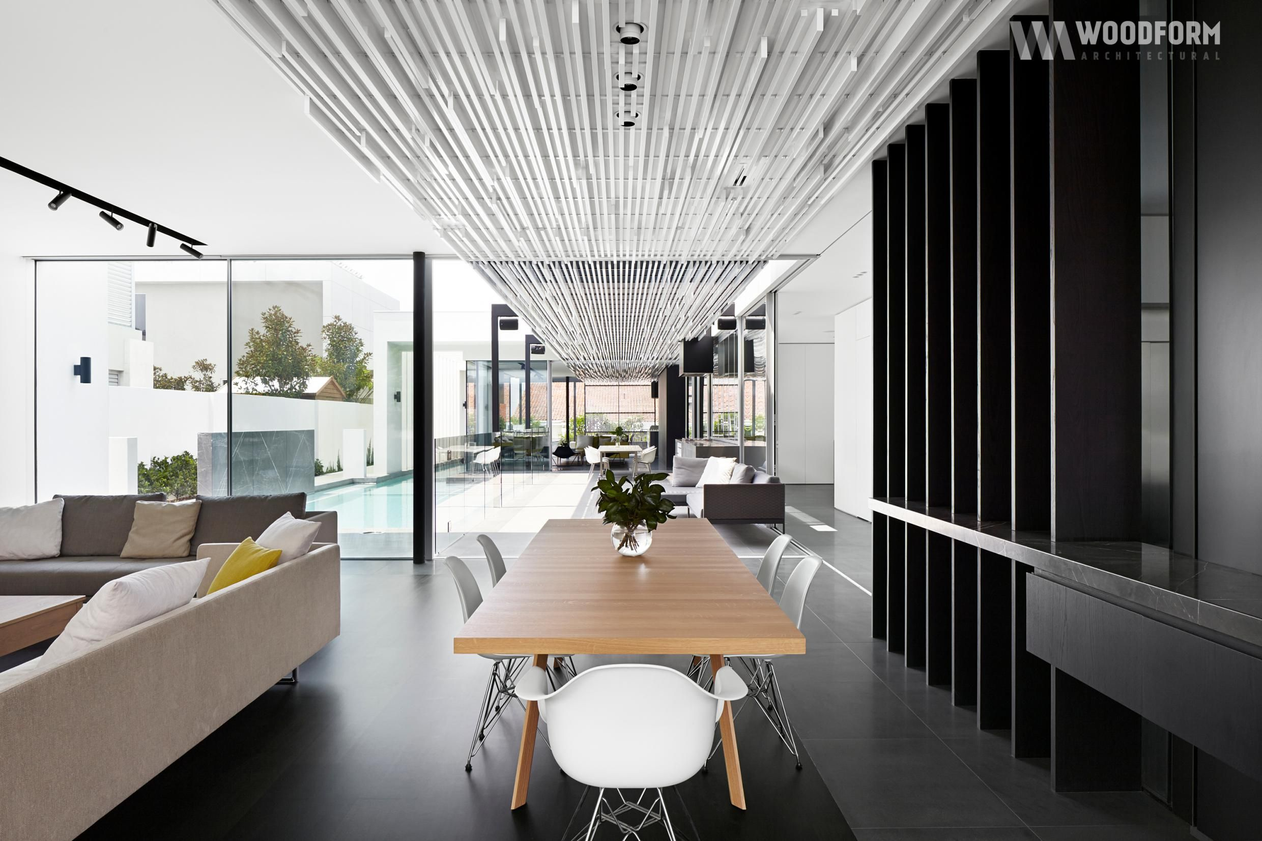 Interior Design Concept Click Linear Screening Aluminium Battens