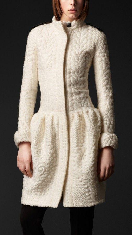 Burberry Prorsum drop waist lightweight knit wool silk coat 1