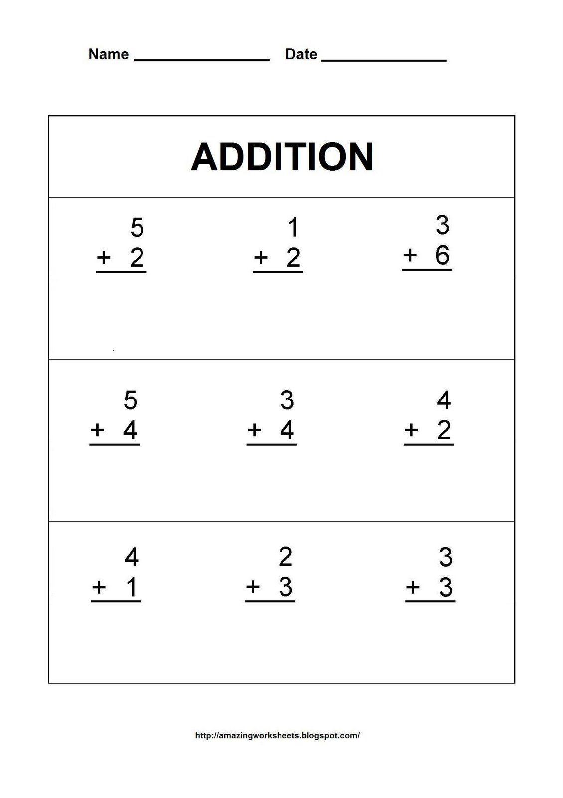 Addition Worksheets For First Grade Scalien – Vertical Addition Worksheet