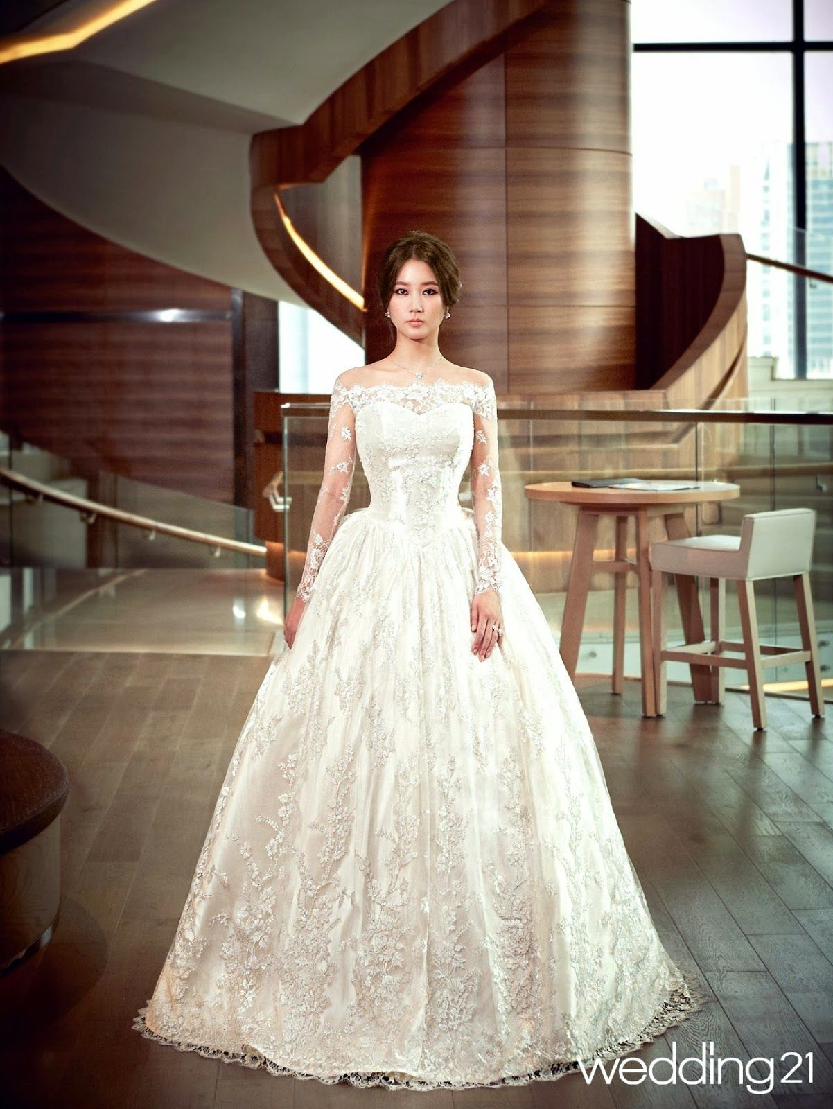 Im jung eun wedding magazine march issue korean actresses