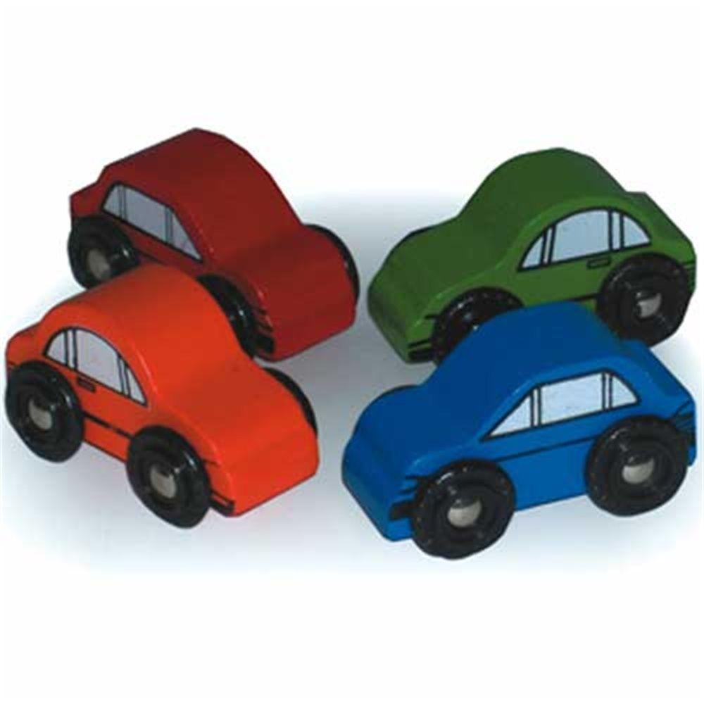 Bigjigs Wooden Railway-Cars x 4 £4.99