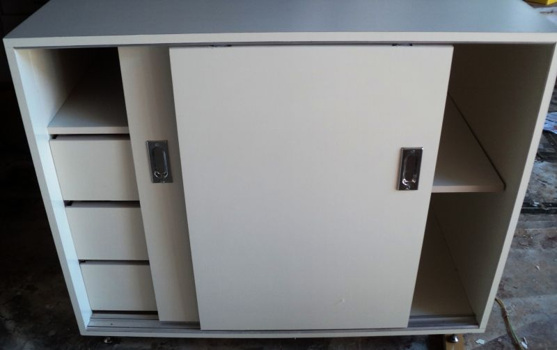 Aparador Relva Electrico ~ armário de cozinha em MDF com porta de correr e gaveteiro interno quarto escritorio