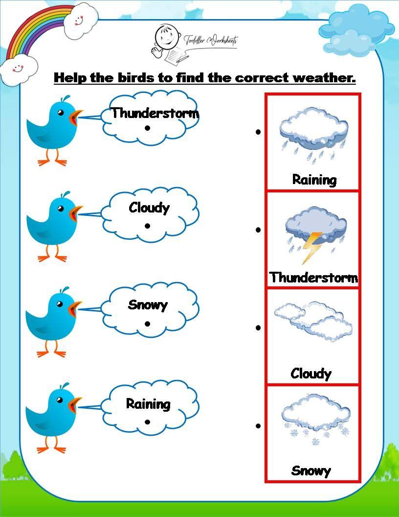 Preschool Weather Worksheet Preschool Weather Weather Worksheets Preschool Activities [ 1056 x 816 Pixel ]