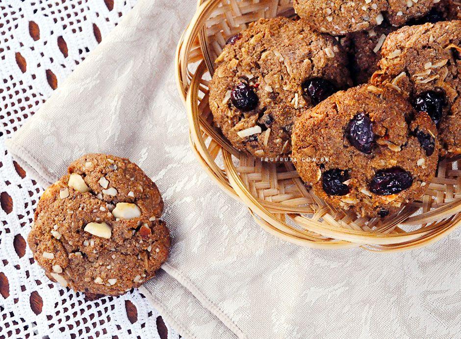 Cookies Integrais - Saudáveis, crocantes, irresistíveis e veganos! - Fru-FrutaFru-Fruta