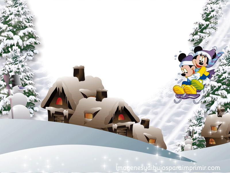 Marcos-disney-de-navidad-para-imprimir1.png (800×600) | Pozadia a ...
