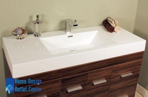 At 8042 Gw 47 Single Modern Bathroom Vanity Set Walnut Home Design Outlet Center Modern Bathroom Vanity Modern Bathroom Vanity Set