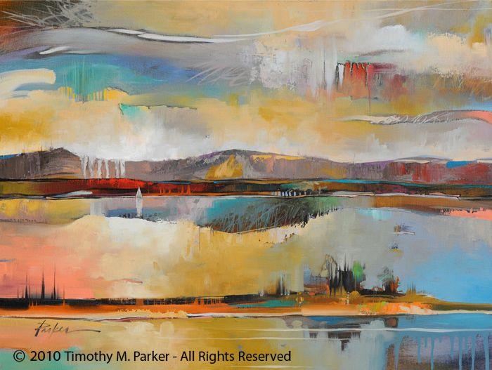 Modern Landscape Painting Artist Tim Parker Modern Artwork Abstract Abstract Art Landscape Seascape Paintings