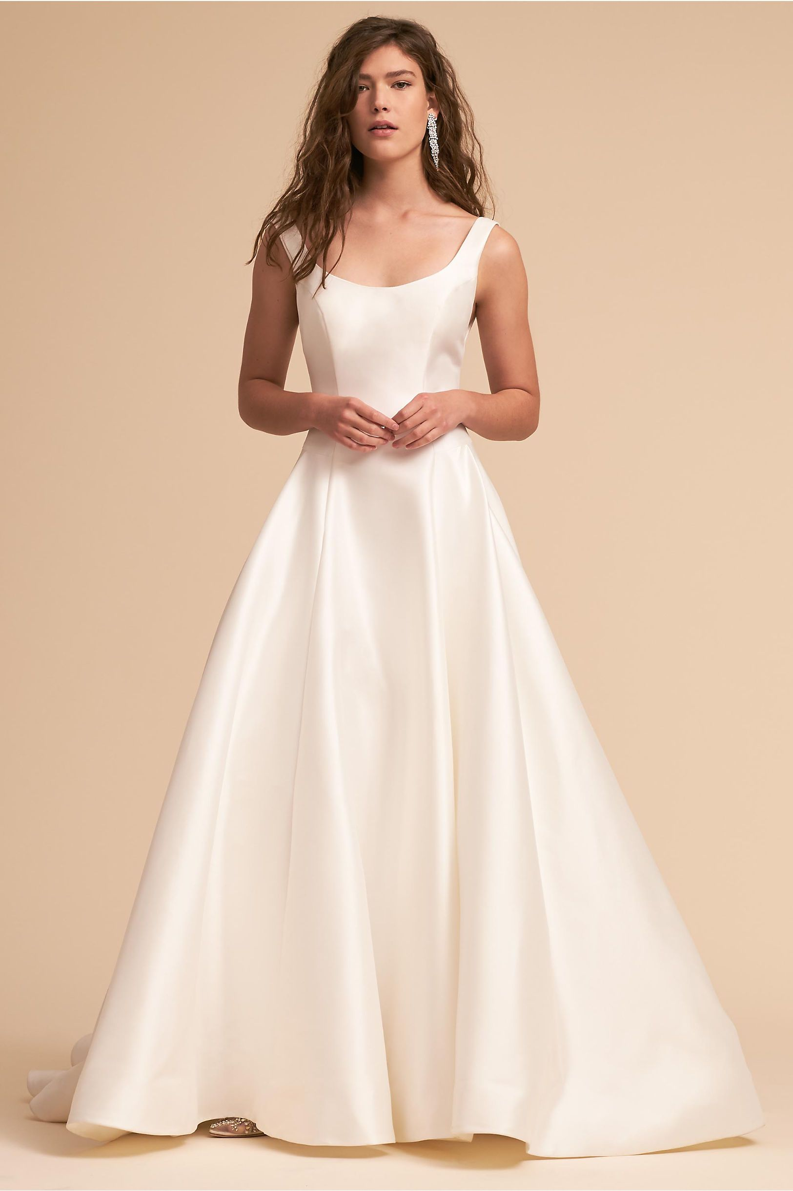 Simple dress for civil wedding  BHLDN Bishop Gown Ivory in Bride  BHLDN  Wallace Wedding
