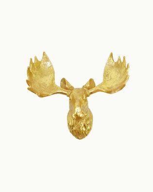 the edmonton large white faux moose head wall mount