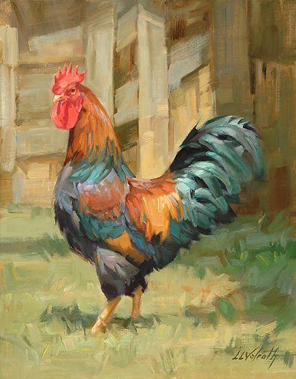 Yard Boss By Linda Volrath Oil 14 X 11 Goruntuler Ile Kus Sanat Resimler Hayvanlar