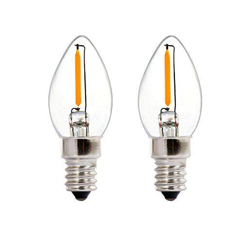 2 Pack C7 Led Night Light Bulb Nationalmater 06w C7 Led Filament Bulb E12 Medium Base Warm White 2700k 360 Degr Night Light Bulbs Filament Bulb Led Night Light