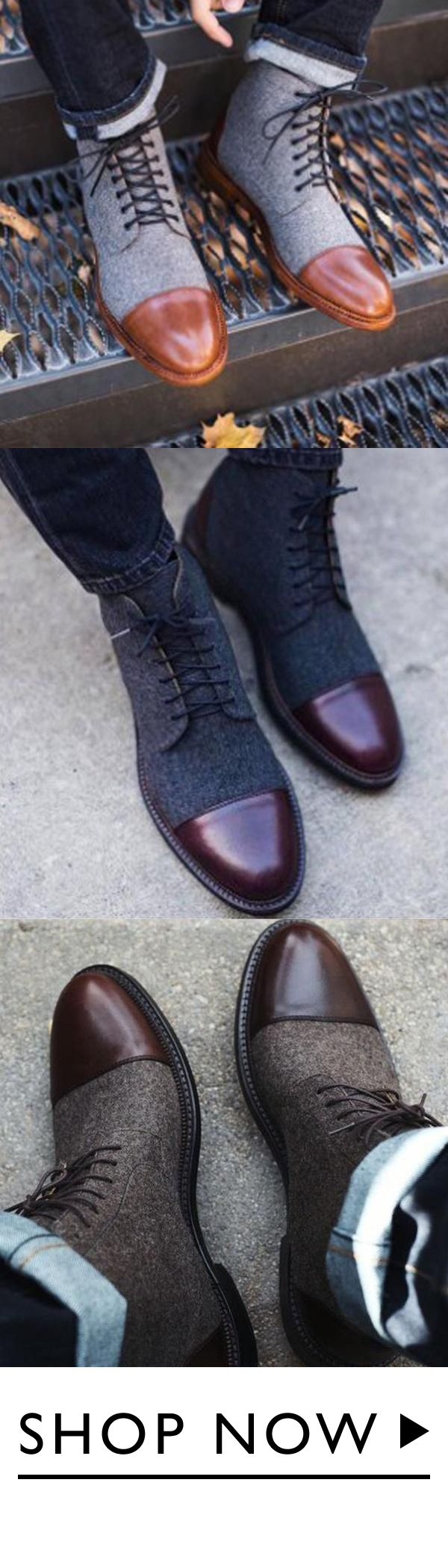 f879eabee1a1 Casual Business Men 's Ankle Boots | Things to wear | Shoe boots ...
