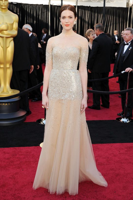 Mandy Moore in Monique Lhuillier at the 83rd  Academy Awards in Hollywood, February 27, 2011, (Getty Images).