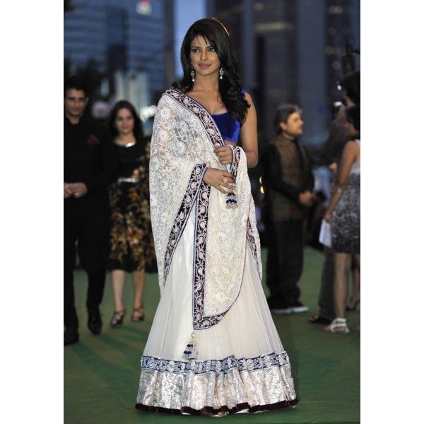 Priyanka replica lehenga Reference: BTS130095 Colour: White & Blue Fabric: Velvet See more details here: http://btownshades.com/index.php?id_product=160&controller=product