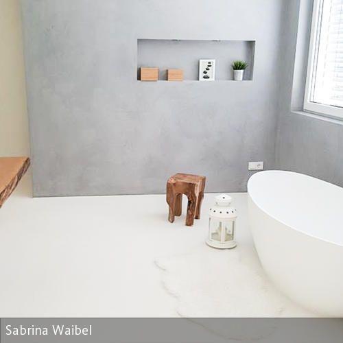 Badezimmer von sabrina badezimmer pinterest - Nischenregal badezimmer ...
