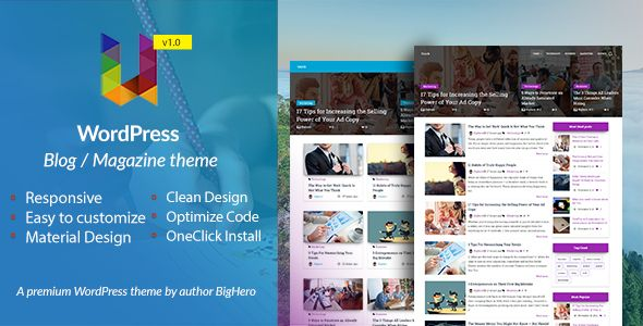 Unick Wordpress Blog Magazine Material Design Theme Blog Magazine Download Wordpress Blog Fun Website Design Blog Themes