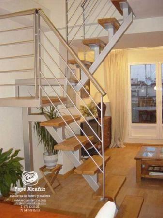 escalera interior escaleras de caracol escalera escalera de loft a medida madrid hierro madera natural a
