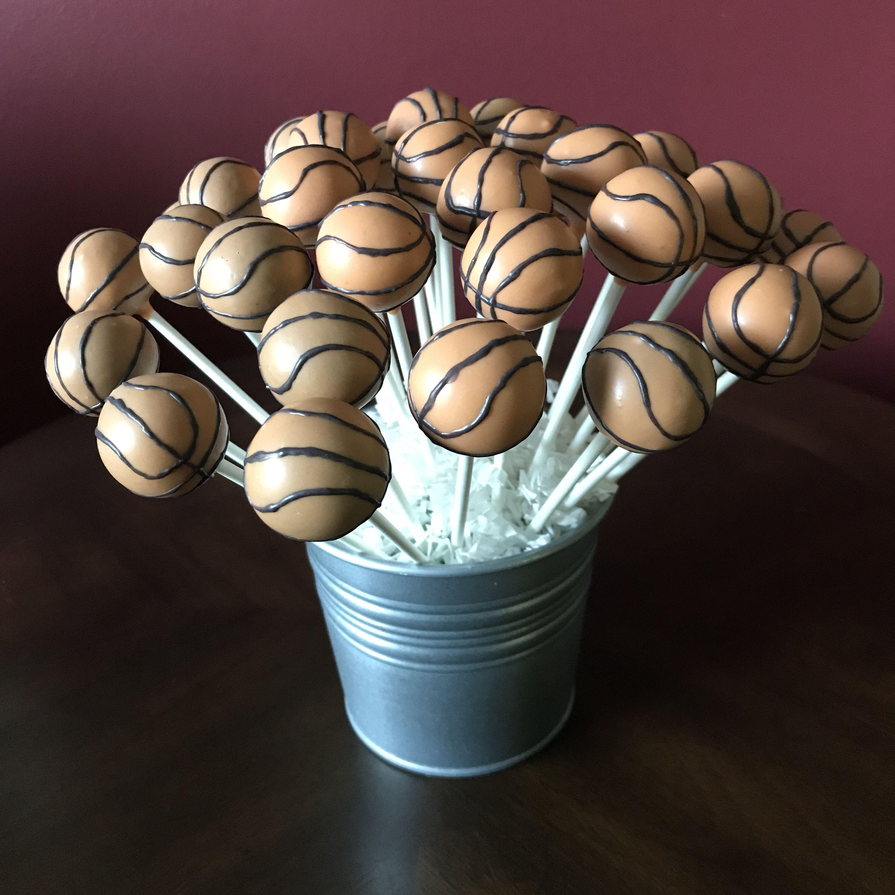 Basketball cake pops basketball cake cake pops