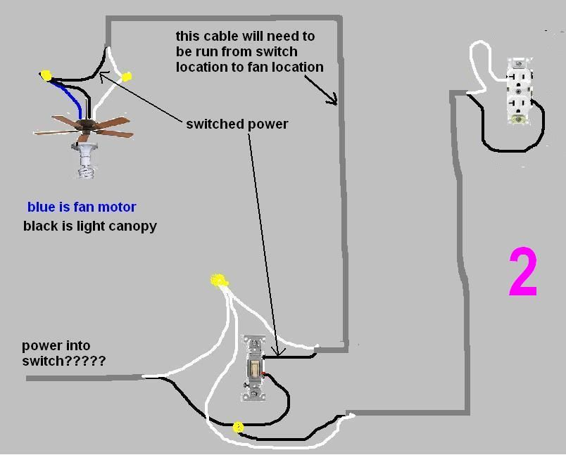 adding a ceiling fan to an existing switch nakedsnakepress com rh nakedsnakepress com Ceiling Fan Pull Switch Wiring wiring a ceiling fan to an existing light switch