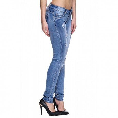 e0c75e38ea intueriecommerce.com Pantalones vaqueros de mujer super pitillo Pantalones  vaqueros largos de mujer super ajustados